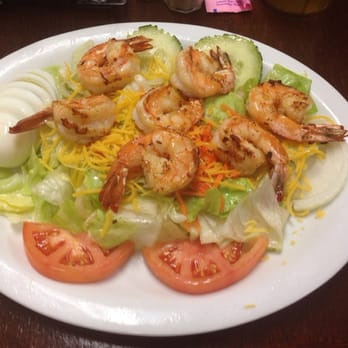 Photo Of Baytown Seafood Restaurant Palacios Tx United States Grilled Shrimp Salad