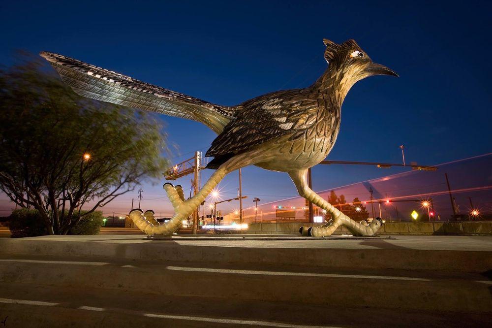 Paisano Pete: E Dickinson Blvd & N Main St, Fort Stockton, TX