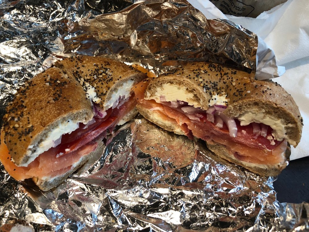 Food from Madison Bagel Café