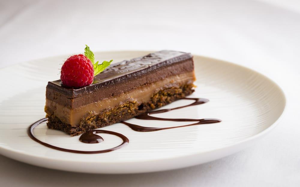 CHOCOLATE TRIO Layers Of Valrhona Chocolate Cake, Milk
