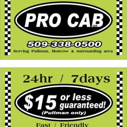 Pro Cab Taxis 110 Nw Stadium Way Pullman Wa Phone Number Yelp