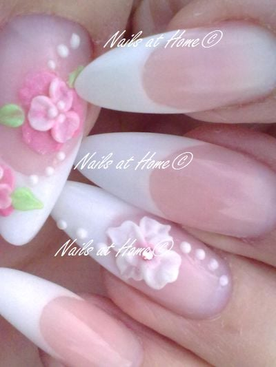 3d Flowers Acrylic Nails Flowers Healthy