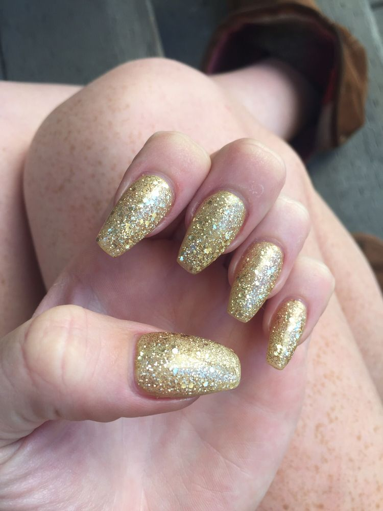Photo Of All About Nails Oakland Ca United States Gold Sparkle