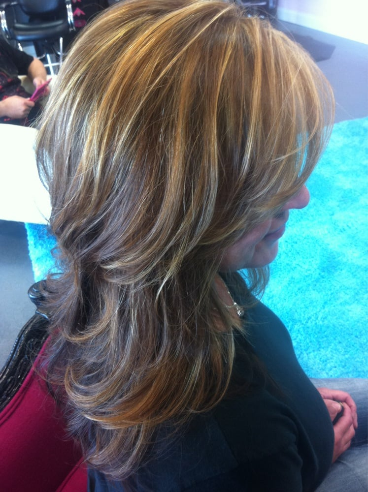 Auburn Hair With Golden Blonde Highlights Yelp