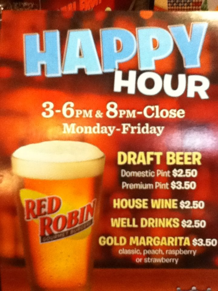 Red Robin Happy Hour Drinks
