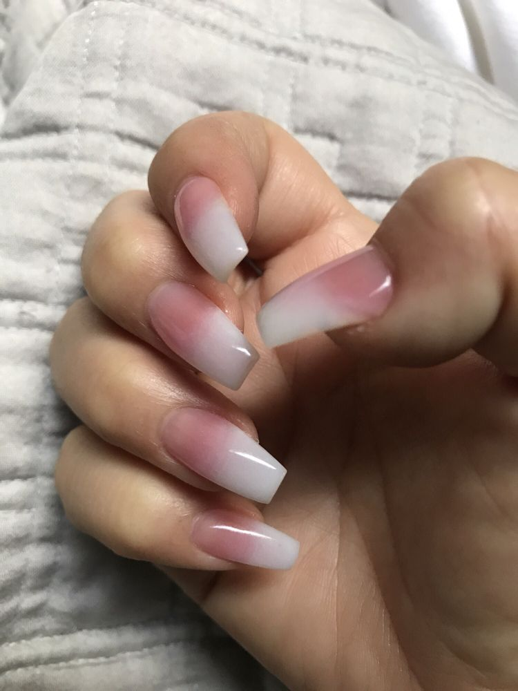 1/2018 Love how thinly Kannan shapes/files-Faded pink white new ...
