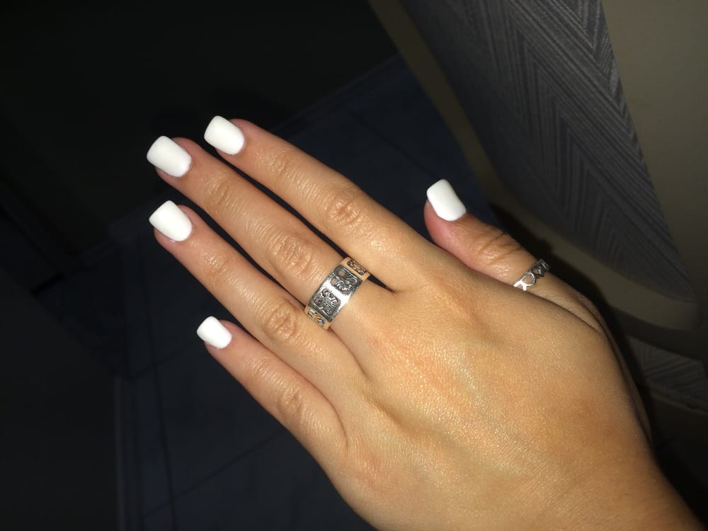 Matte white nexgen nails! I\'m so in love! - Yelp