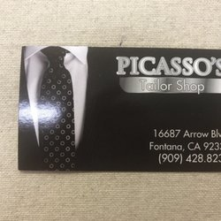 Picasso tailor sewing alterations 16887 arrow blvd fontana photo of picasso tailor fontana ca united states business card reheart Gallery