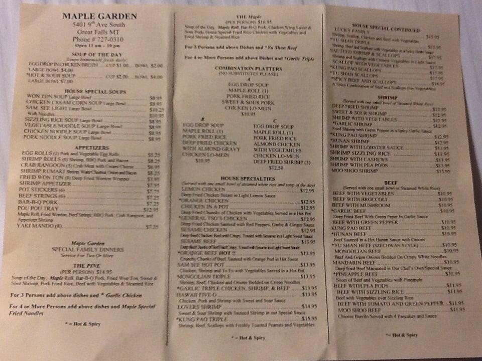 maple garden 27 photos 38 reviews korean 5401 9th ave s great falls mt restaurant reviews phone number menu yelp - Maple Garden Menu