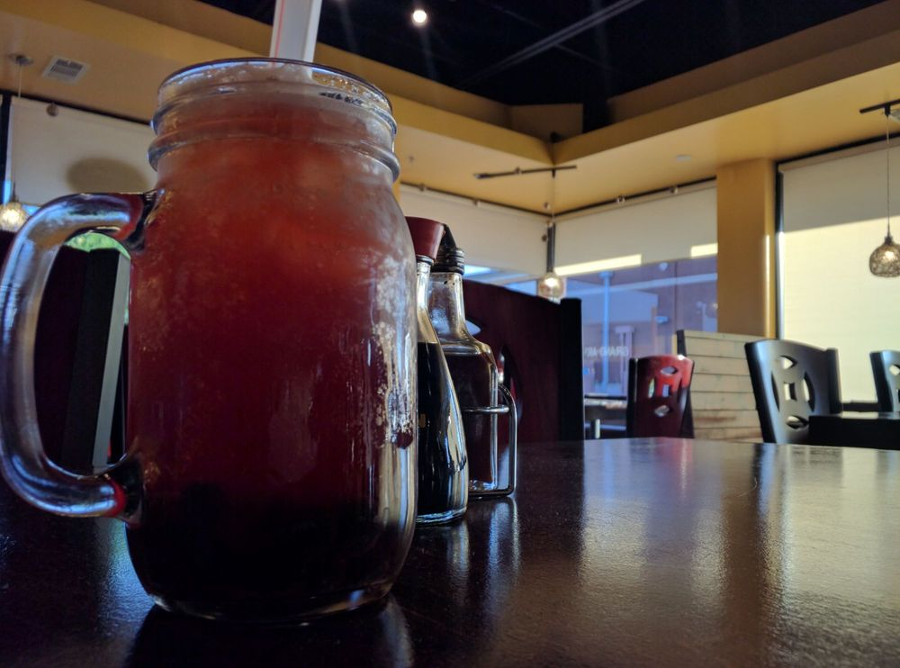 Photo of Noodle House - Plano, TX, United States. Homemade raspberry iced tea