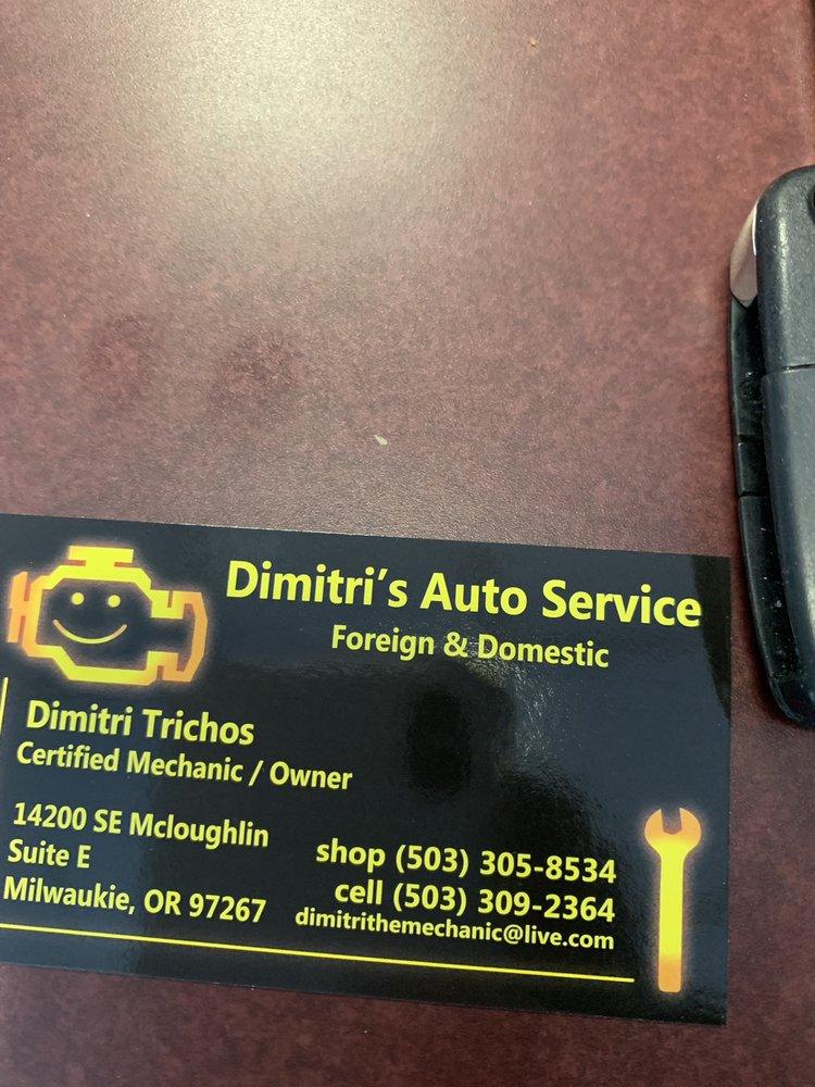 Dimitri's Auto Service: 14200 SE McLoughlin Blvd, Portland, OR