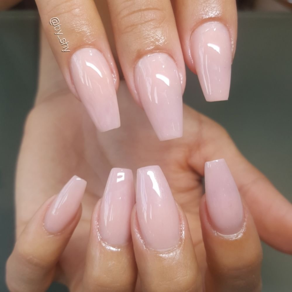 Photo Of By Shy Los Angeles Ca United States Cover Pink Acrylic Nails
