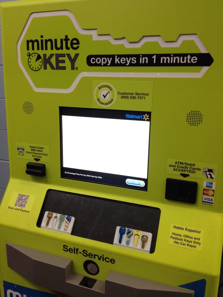 Key Machine Walmart >> The One Minute Key Machine Yelp