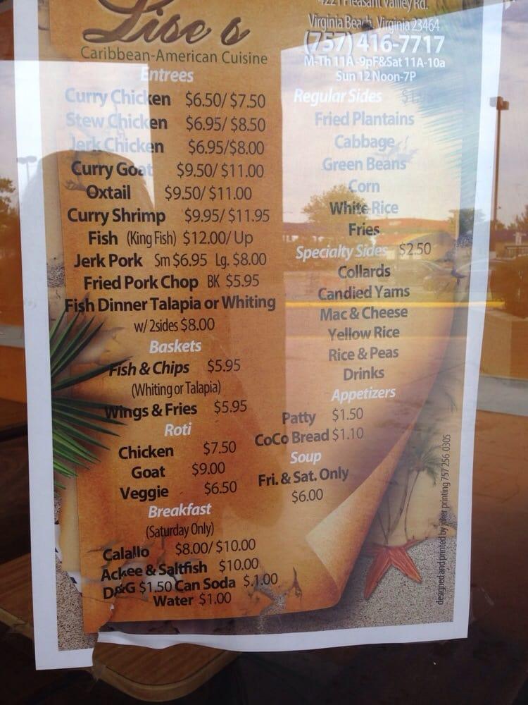 Menu posted on window yelp for American cuisine menu