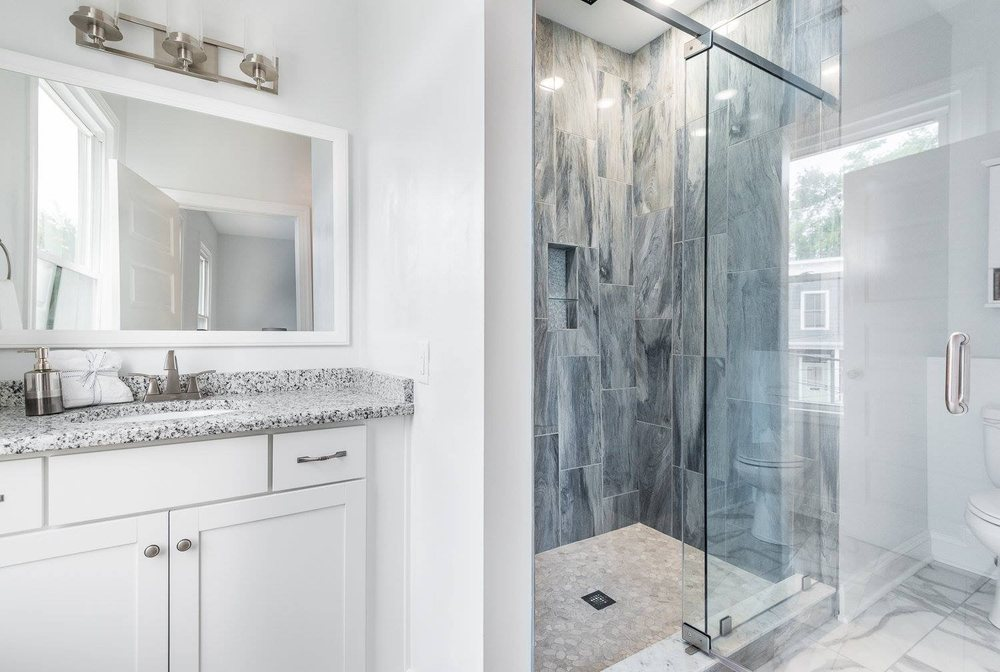 Gorgeous Tile Shower With Natural Pebble Stone Floor Wall Tile