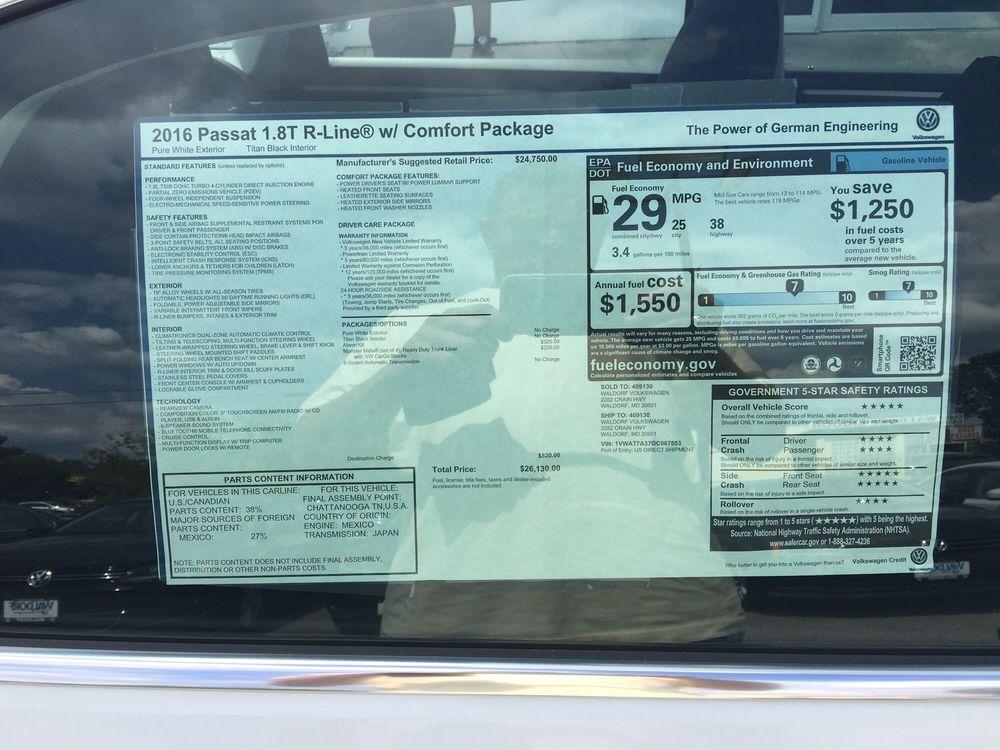 Volkswagen Of Waldorf Motor Mechanics Repairers Rr