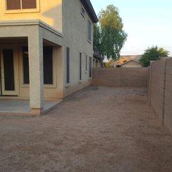 Photo Of Lopez Landscaping Wittmann Az United States Side Yard Before