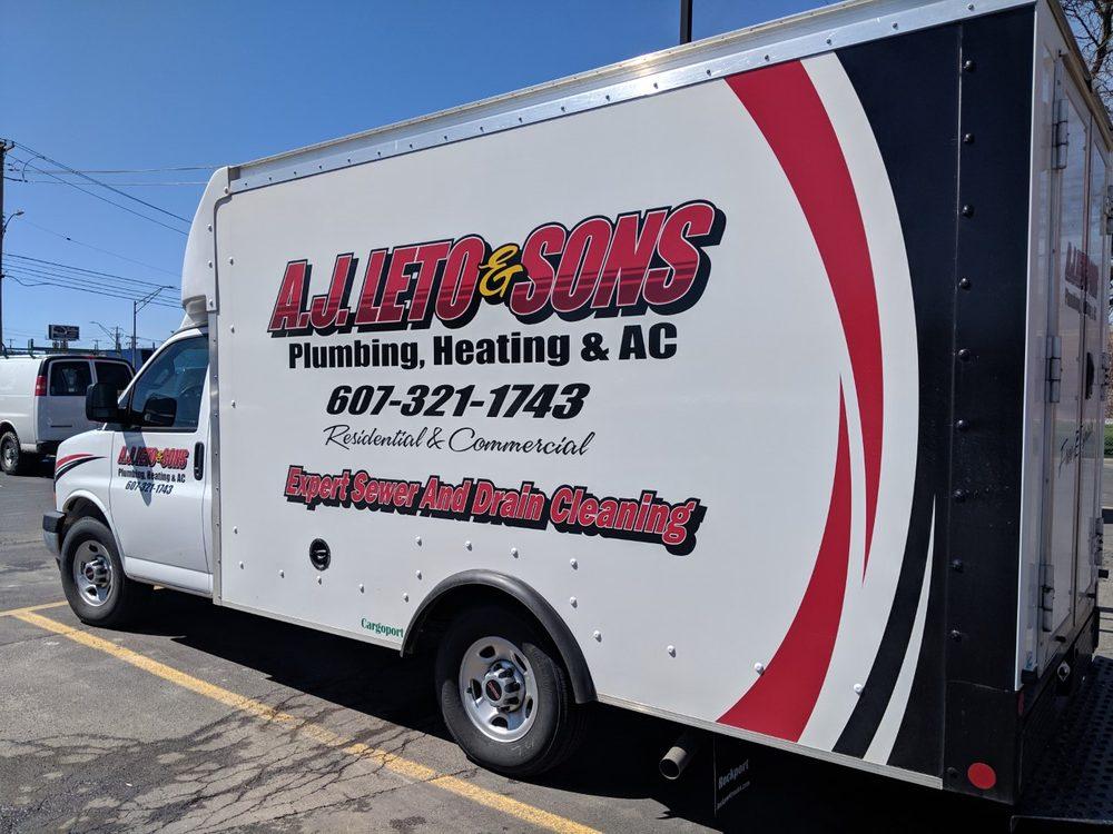 A J Leto & Sons - Plumbing, Heating & AC: 1539 Union Center Maine Hwy, Endicott, NY