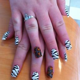 Photos for nail art studio yelp photo of nail art studio westlake oh united states hand painted zebra prinsesfo Images