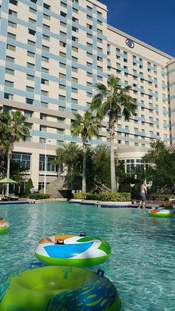 Hilton Orlando Videos And Pictures: Pool And Hotel