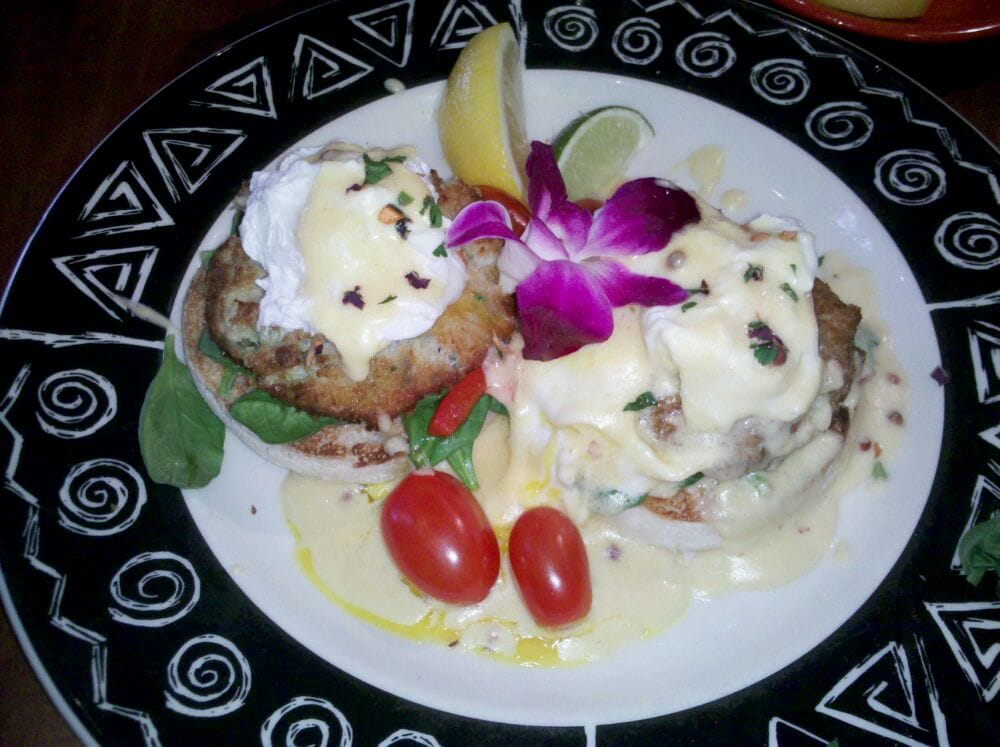 Crab cake recipe on english muffin