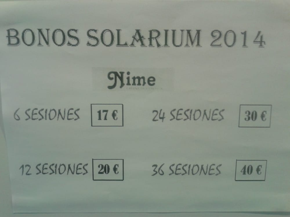 Cabina Estetica Nime : Bonos de solarium yelp