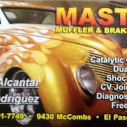 Master muffler brake service auto repair 9430 mccombs st el photo of master muffler brake service el paso tx united states reheart Image collections