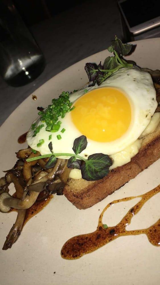 Mushroom Toast With Egg On Top Yelp
