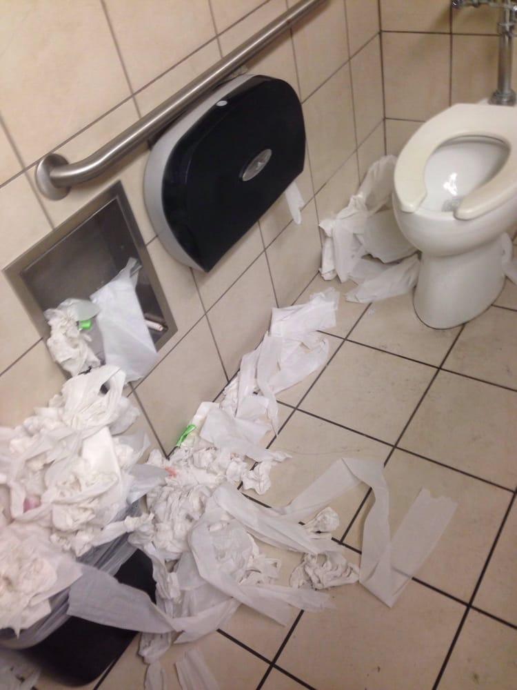 Ladies Restroom are disgusting... - Yelp