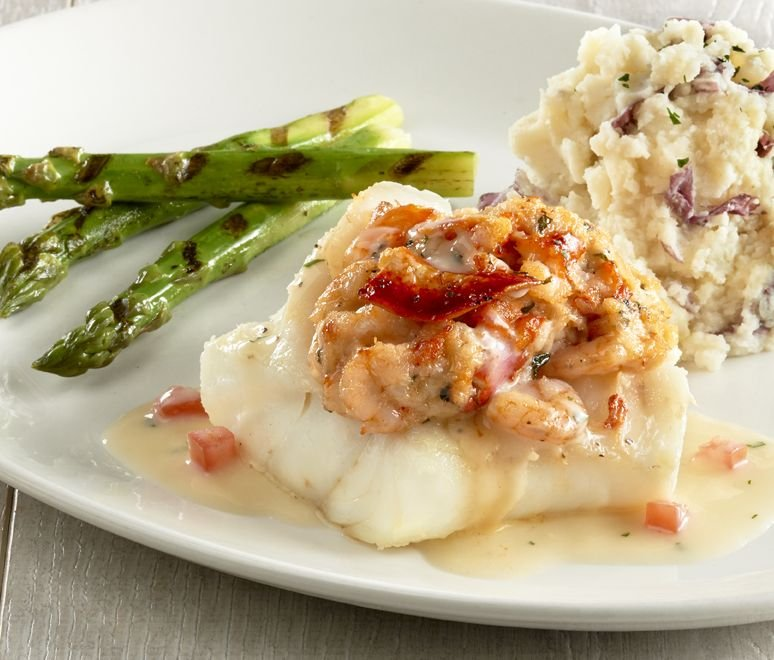Cod with shrimp stuffing for Mitchell s fish market edgewater