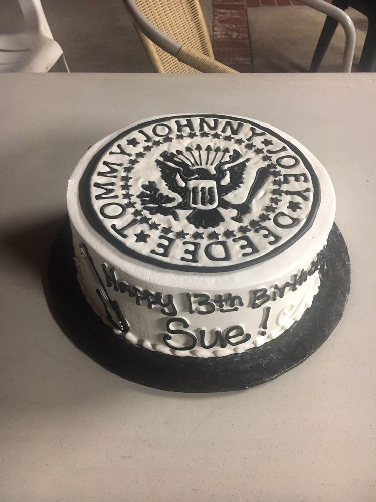 Ramones Inspired Cake With Whip Cream Frosting Chocolate Cake And