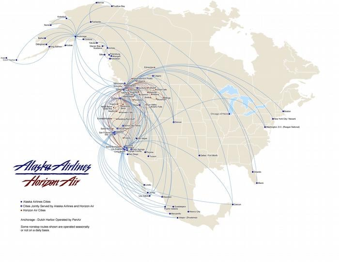 alaska air group route map yelp