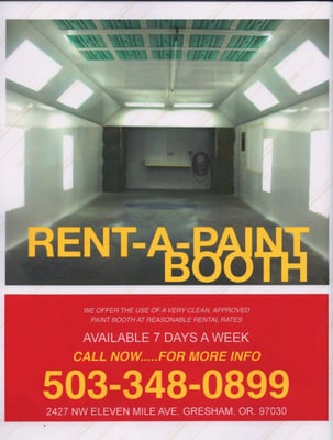 Paint Booth Rental >> Rent A Paint Booth Panel Beaters Paint Services
