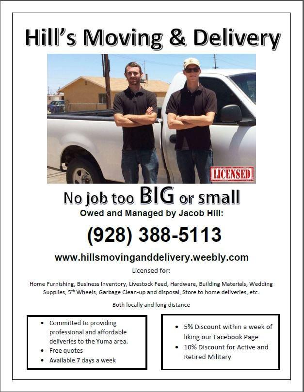 Hill's Moving & Delivery: Yuma, AZ
