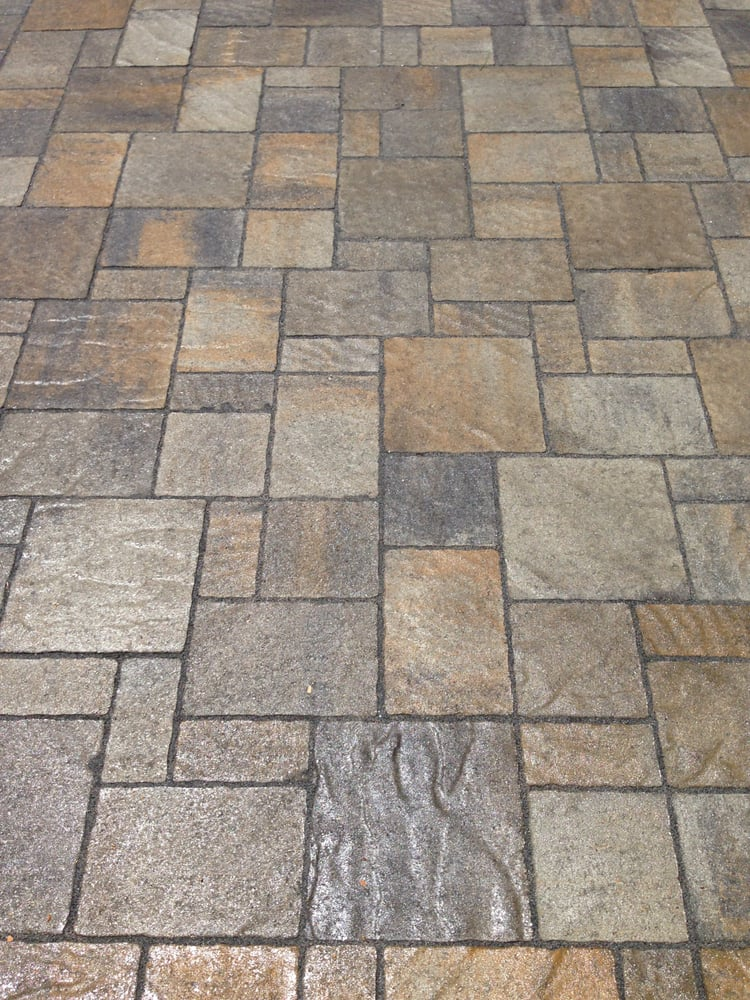 Belgard urbana in victorian with wet look sealer yelp for Belgard urbana pavers