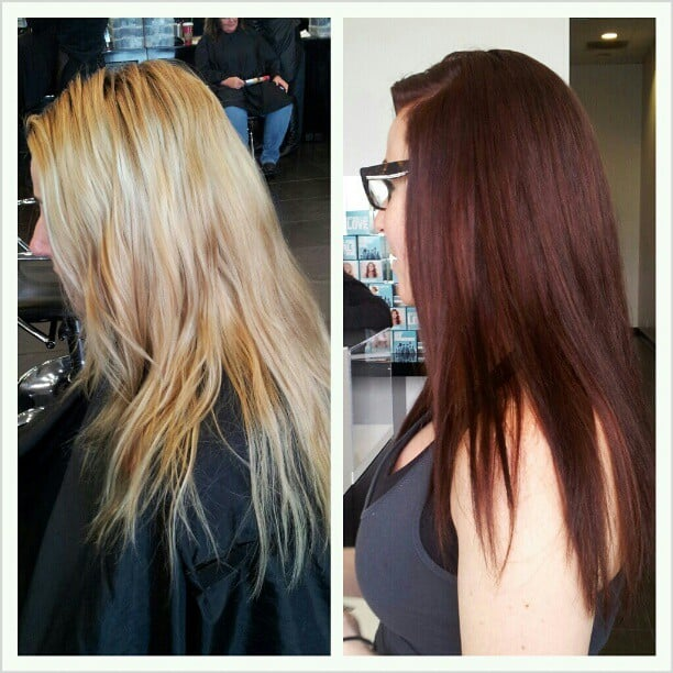 Dramatic color change by adrian de lozada graduates may for Academy for salon professional