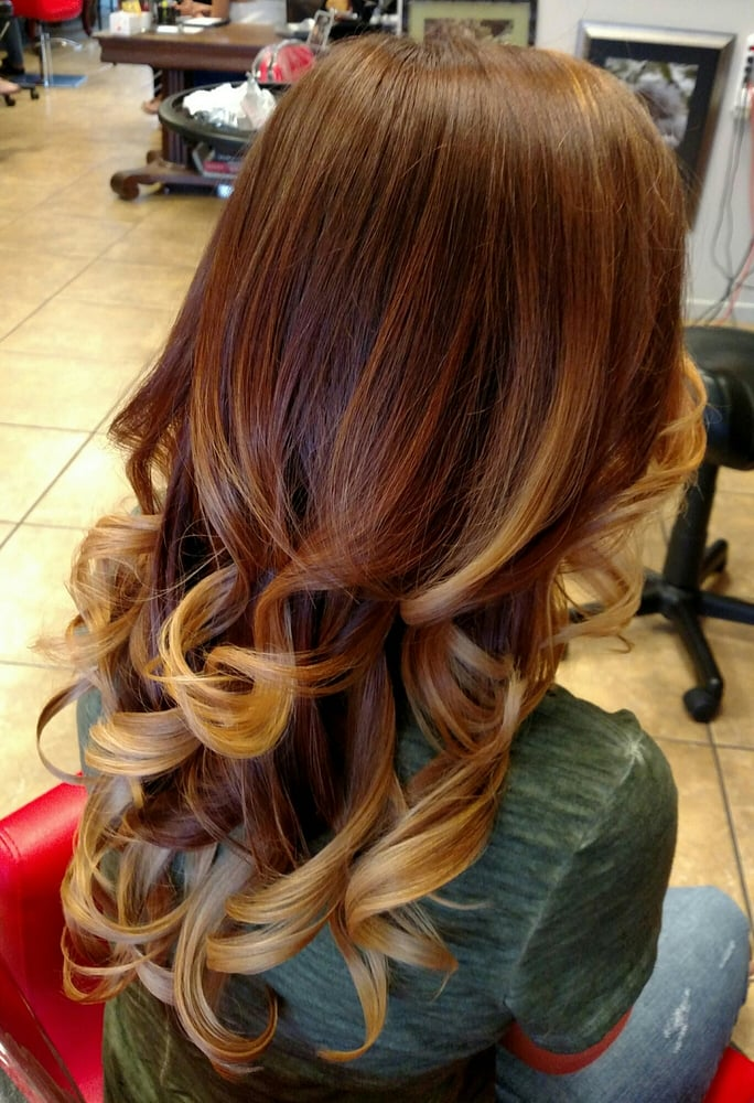 Color Melting Auburn Into Golden Blonde Yelp