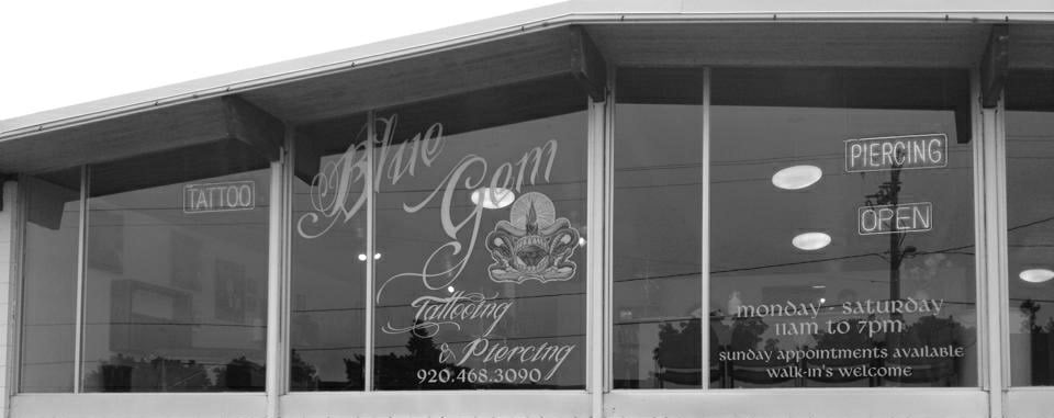 The Blue GEM Tattooing & Piercing: 2250 University Ave, Green Bay, WI