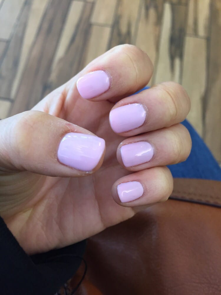 Light pink no chip manicure! - Yelp