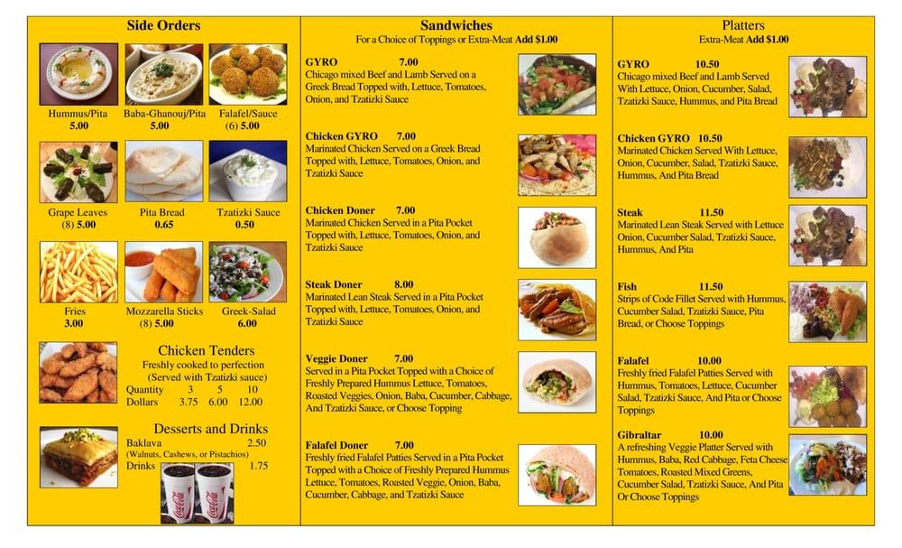 2015 new menu page 2 of 2 yelp for Mediterranean restaurant menu