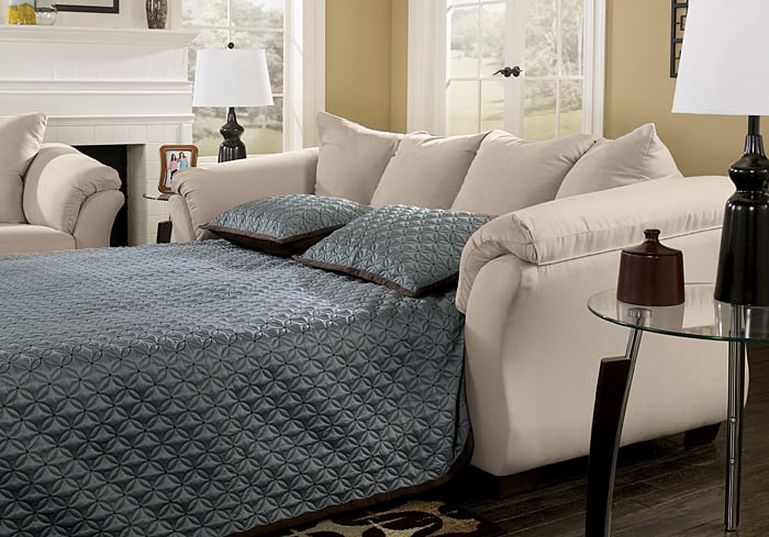Darcy Stone Full Sofa Sleeper Gives Exciting Contemporary Style Of The Sweeping Padded Arms And