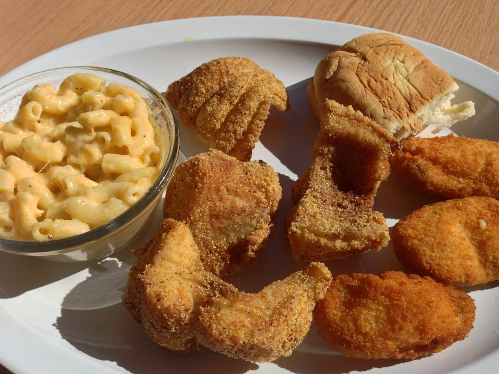 Delta pride fried catfish dinner with mac n cheese and for Fried fish restaurant