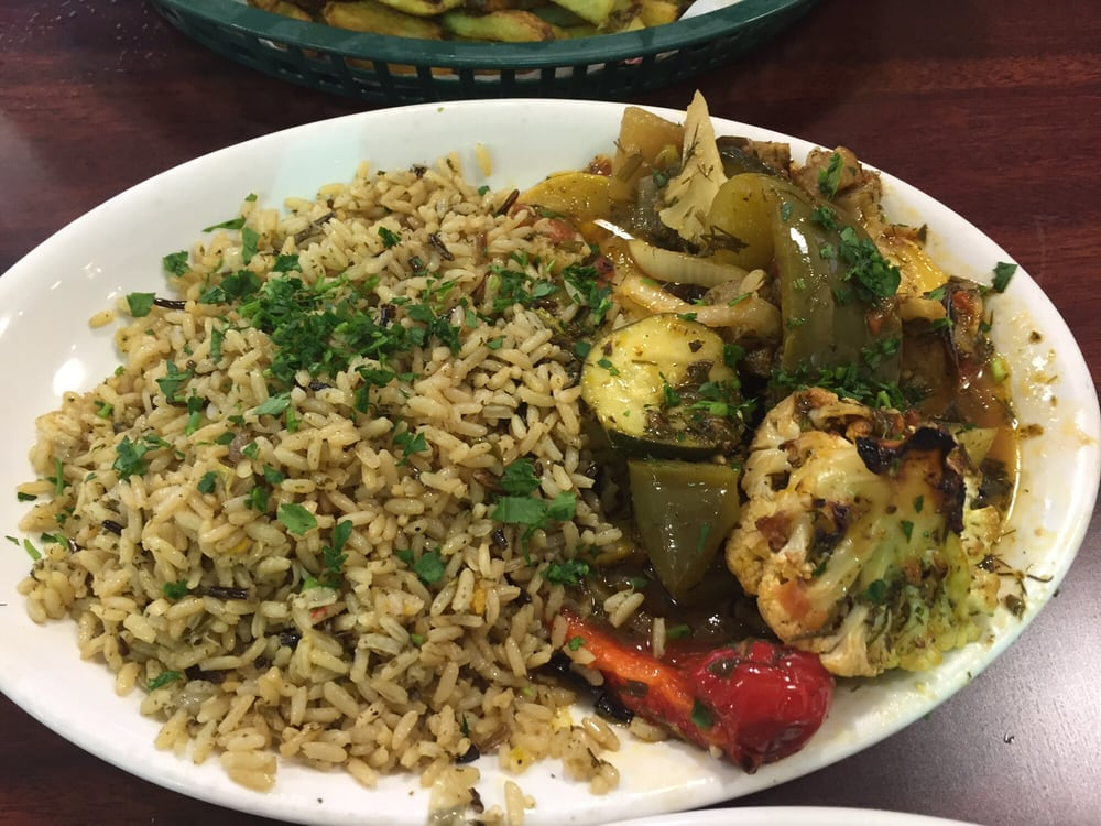 Mixed vegetables and rice side for my salmon yelp for Boston fish market des plaines illinois