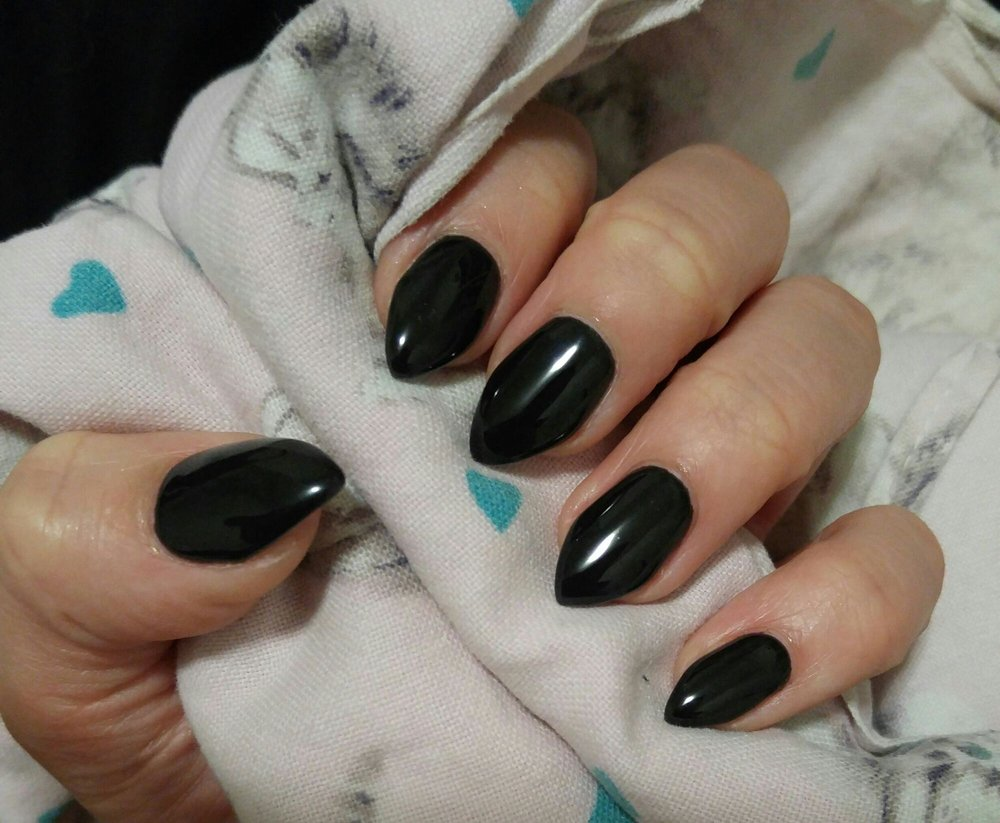 Full set bio gel extensions with shellac - EXACTLY what I wanted, so ...