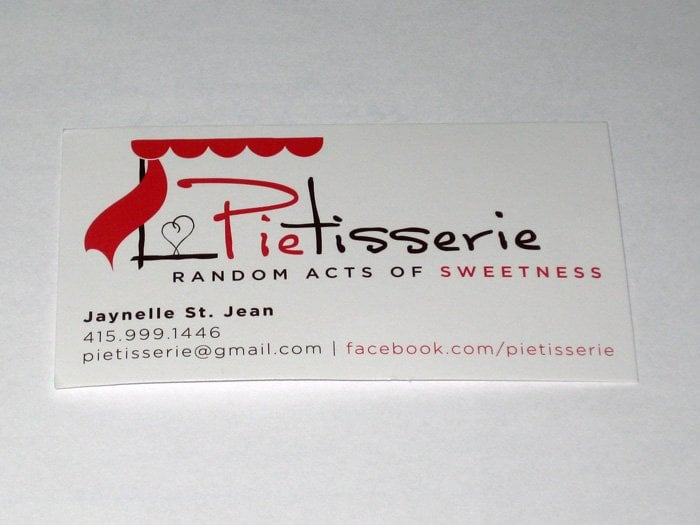 Photo Of Pie Tisserie Oakland Ca United States Owner S Business Card