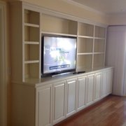 Wonderful Custom Painted Office Desk Photo Of Closet Crafters   Ventura, CA, United  States. Painted Wall Unit (