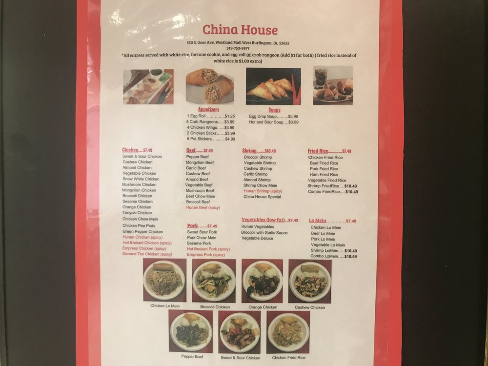 China House: 550 S Gear Ave, West Burlington, IA