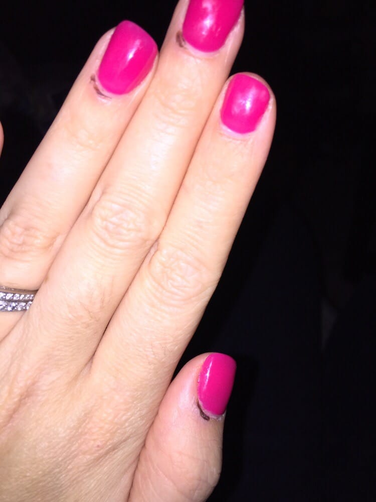 Major cuticle damage on 3 fingers from my visit. My other hand looks ...