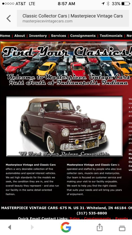 Photos for Masterpiece Vintage Cars - Yelp
