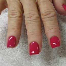 shortsquare acrylic nails with polish  yelp